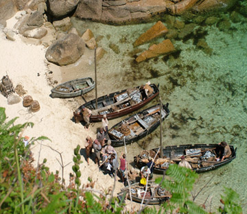 Filming at Porthgwarra