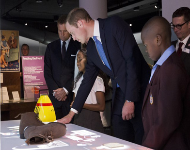 Duke of Cambridge at official opening of First World War Galleries